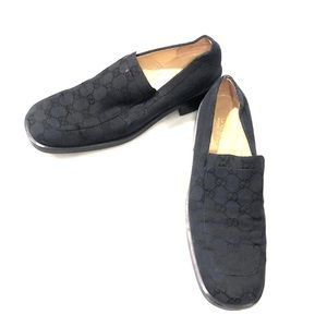 Gucci canvas loafers Sz 8